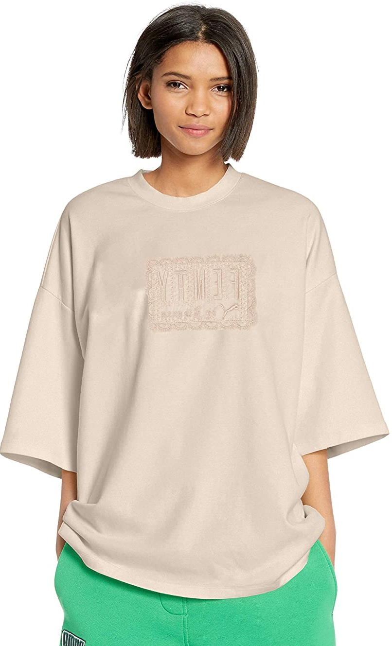 woman in a oversized t shirt